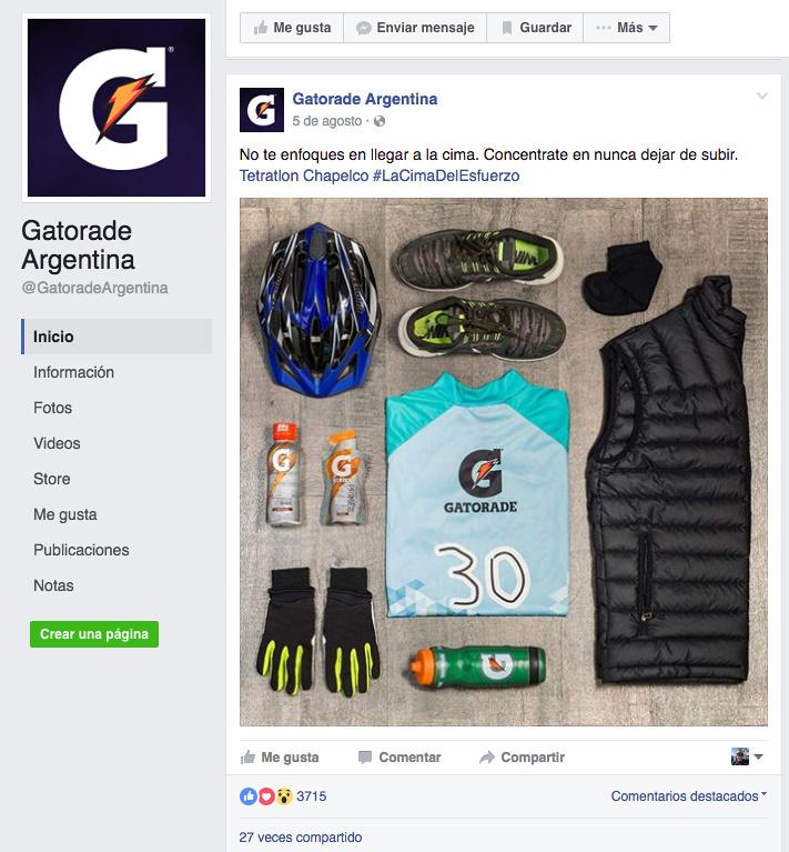 Posteo Gatorade 1
